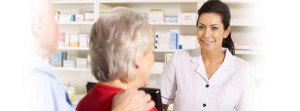 Female Pharmacist Helping Customers - AlphaScript